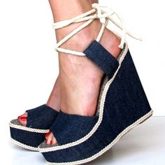 Up-cycle your old plain wedges into fabulous denim ones with this great tutorial. (via What I Wore)
