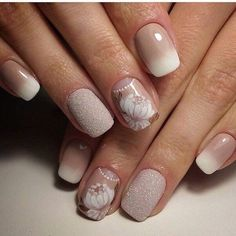 This design of manicure suits great for the women, who value the elegance. Look, which hues are successfully chosen – ...