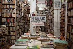 Old books in a bookstore at Zócalo, Mexico City, by Airbnb #Mexico #MexicoCity #Travel #Culture #Books #Shopping