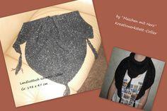 Landlusttuch in schwarz/silber , weitere Infos unter :http://kreativwerkstatt-collier.npage.de/neuigkeiten.html