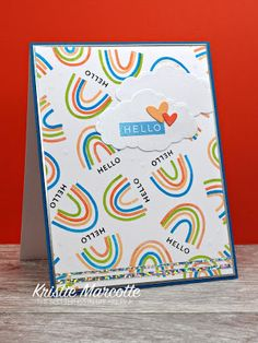 I'm still fairly new to using Concord & awesome Turnabout stamps . But after seeing a crafty friend's card using the . Stampin Up Paper Pumpkin, Rainbow Card, Pumpkin Cards, Concord And 9th, Cards For Friends, Ink Pads, Diy Cards, Cardmaking, Greeting Cards