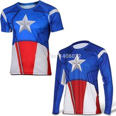 Aliexpress.com : Buy Superhero Avengers T shirt Long Sleeve Marvel DC Comics Jersey Top High quality men T shirt 20 color from Reliable jersey sock suppliers on Happy Square Shopping Center