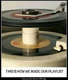 You're flip through your singles and really think about which order you wanted to hear the songs. Then put the adapter in each one and stack them up on the spindle