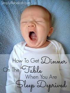 5 tips for those times when a newborn or family crisis prevents you from spending time in the kitchen