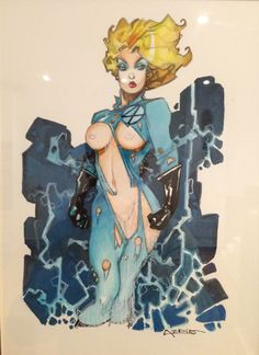 Alfonso Azpiri - Sue Storm Invisible Woman, in miles dufrasne's Alfonso Azpiri Comic Art Gallery Room - 958148