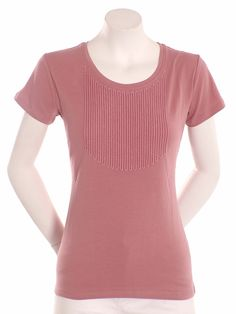 Precchio Colección Otoño Invierno 2012 -  Camiseta bordado cuello barco