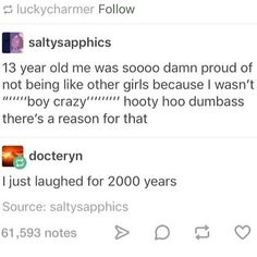 hooty hoo dumbass >> actually same lol <<< This is accurate lol XD Lgbt Memes, Funny Memes, Hilarious, Gay, Les Sentiments, My Guy, Tumblr Posts, Tumblr Funny, Funny Posts