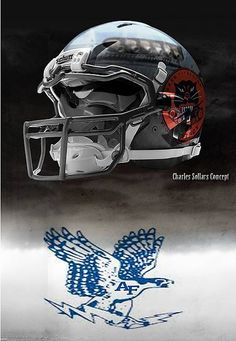 USAF United States Air Force Academy Falcons - concept football helmet