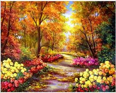 Colorful Flowers Diamond Embroidery 5d Diamond DIY Painting  Cross Stitch  #easybuy #Frame