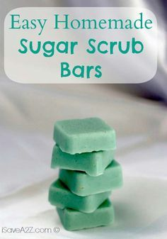 Homemade Sugar Scrub Bars