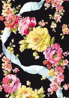 Roses - Ribbon Garland - Black