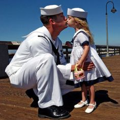 Daddy and His Sailor Princess. This will for sire be tommy and our daughter <3