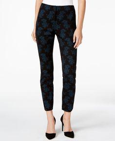 Alfani Petite Floral-Print Skinny Pants, Only at Macy's