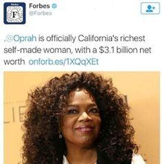 Oprah is California's richest self made woman
