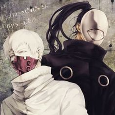 Tokyo Ghoul - Tatara and Noro | Ick. Noro gives me the creeps. NOT TO ME TION HE KILLED MY BABY HIDE :'(
