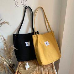 Literary Cotton Canvas Bag, Shoulder Bag, Female Big Bag College Bag, College Student Bag, Large-Cap Source by etsy bags Big Bags, Cute Bags, Sacs Tote Bags, Aesthetic Bags, College Bags, Cap College, Diy Handbag, Diy Purse, Bags For Teens