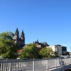 """Magdeburg Blick auf die Altstadt"""