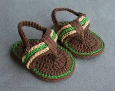 Resultado de imagen para patron de sandalias a crochet
