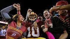 Robert Griffin III and overly excited girl