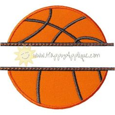 Basketball Name Plate Applique Design