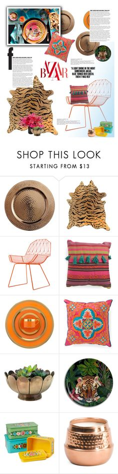 """""""Bazaar in India"""" by cara-mia-mon-cher ❤ liked on Polyvore featuring interior, interiors, interior design, home, home decor, interior decorating, Pier 1 Imports, Williams-Sonoma, Bend and William Yeoward"""