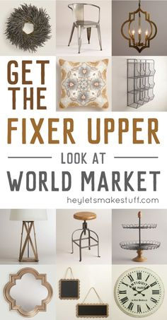 Want the Fixer Upper look but live far from Magnolia Market? I have 12 ways to g. Want the Fixer Upper look but live far from Magnolia Market? I have 12 ways to get the Fixer Upper look at World Market! Home Design, Interior Design, Design Ideas, Fixer Upper Living Room, Living Rooms, Magnolia Fixer Upper, Magnolia Market, Magnolia Farms, Magnolia Home Decor