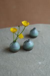 Planting Plants, Bottle Vase, Dried Flowers, Stoneware, Miniatures, Green, Flower Preservation, Ceramica, Minis