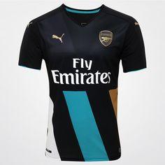Camisa Puma Arsenal Third 15/16 s/nº Preto | Netshoes