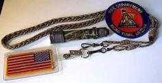 Paracord ID Badge Lanyard