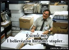 office space movie quotes | Dell.ca Kensington Accessories Sale... Free Red Stapler + Notebook ...