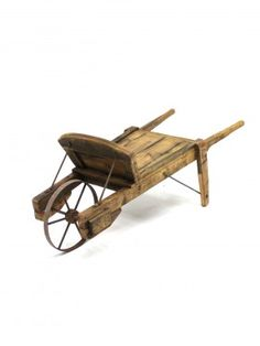 Vintage Sack Cart, Artificial Replica Trees, Imitation Plants & fake flowers to hire including Topiary Wooden Wheelbarrow, Diy Popsicle Stick Crafts, Wooden Cart, Prop Hire, Flower Cart, Flower Pots, Easy Wood Projects, Wood Planters, Vintage Farm