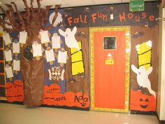 Fall School Hallway Decorations...maybe they will let me try this... not with the ghosts but with a similar theam.... will have to see  :)