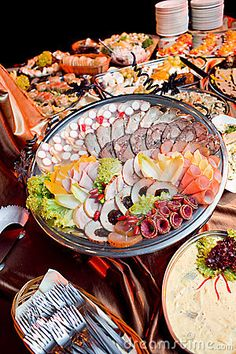 Photo about Catering food at a party. Image of food, hotel, delicious - 16843794 Party Food Catering, Catering Food Displays, Catering Ideas, Cooking Tips, Cooking Recipes, A Moveable Feast, Party Finger Foods, Recipe Images, Best Appetizers
