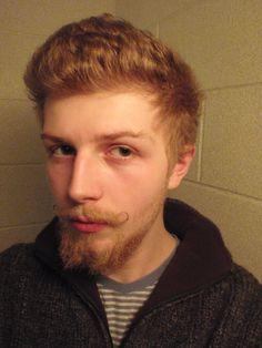 ginger beard and mini handlebar