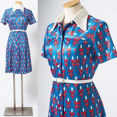 Mod Dress 60s Dress Mad Men Dress Vintage by TrendyHipBuysVintage