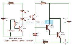 Simple IR Audio Transmitter and Receiver Circuit