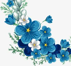 Cartoon painted blue lace, Cartoon Painted Blue Flower Border Vector, Cartoon, Hand Painted PNG Image and Clipart