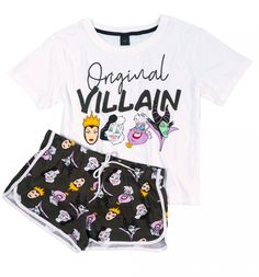 Even bad girls need their shut eye! If you're up to serious mischief on the regular, spend your nights in this truly wicked Disney villains PJ set. Cute Pajama Sets, Cute Pjs, Cute Pajamas, Pajamas Women, Cute Disney Outfits, Disney Pajamas, Cute Lazy Outfits, Girls Fashion Clothes, Teen Fashion Outfits
