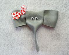 Tutorial for elephant ribbon sculpture on this site.  I Like Big Bows: Look! It's an elephant