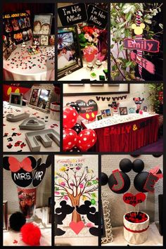 Micky Minnie theme engagement party