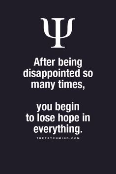 I hope this is not true for my kids. Being let down repeatedly & being too young to realize they're being Set Up for Disappointment kills me. I hope once they are able to free themselves from IT, They can live happy adult lives full of Hope and Successful adventures