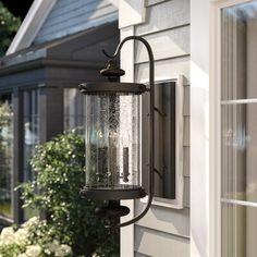 Outdoor Barn Lighting, Outdoor Sconces, Outdoor Wall Lantern, Outdoor Walls, Porch Lanterns, Light Beam, Modern Rustic Interiors, Glass Panels, Glass Shades