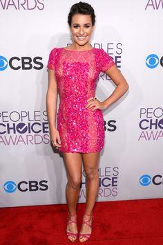 Lea Michele in Elie Saab (2013 People's Choice Awards)