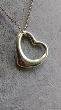 Tiffany & Co. 925 Sterling Silver Elsa Peretti Open Large Heart Pendant Necklace. Get the lowest price on Tiffany & Co. 925 Sterling Silver Elsa Peretti Open Large Heart Pendant Necklace and other fabulous designer clothing and accessories! Shop Tradesy now