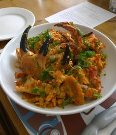 Singapore Chilli Crab made by Food Urchin at Rick Stein's Padstow Seafood School