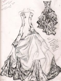 wedding dress sketch by familiarshadow on deviantART