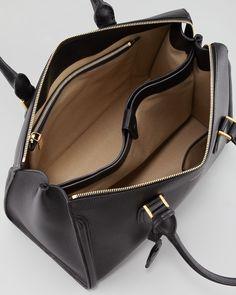 Alexander Mcqueen Heroine Grain Leather Zipup Tote Bag Black in Black | Lyst