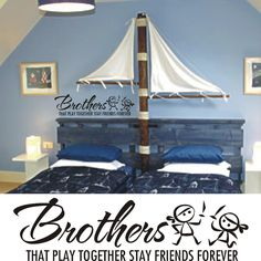 Kids Room Pirate Decal - BrothersThat Play Together -- Vinyl Wall Art Decal Sticker --. $18.00, via Etsy.