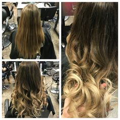 Before and after...From high maintenance highlights to a low  maintenance beautiful ombre