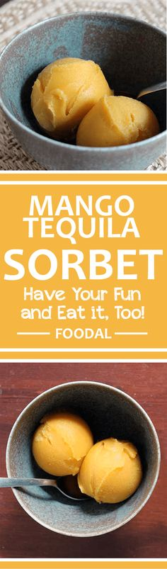 For your next cookout try serving this homemade tequila mango sorbet (adults only)! Check out our simple recipe to learn more about this boozy treat, made with fresh mango. http://foodal.com/recipes/desserts/mango-tequila-sorbet/